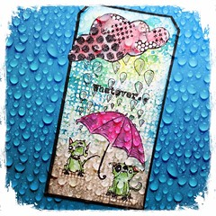Arttag Whatever.. (Stampinkie) Tags: texture handmade tag rubberstamping arttag distressink stampotique carabellestudio