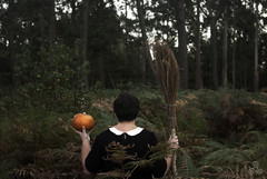Samhain I (Vanessa RG (Vanessa Valkyria)) Tags: wood forest pumpkin witch samhain bosque calabaza witchcraft broom witchy pagan pagano bruja escoba