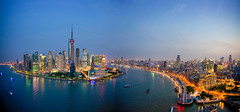BNNWGT (timtiburzi) Tags: china city travel vacation tourism skyline buildings river flow evening town holidays shanghai flats highrise blocks traveling pudong huangpu
