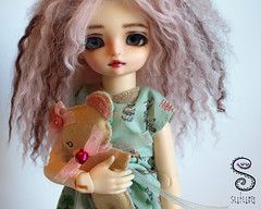 Hujoo Rose (Nepenthe (Sutura Workshop) - NEW ACCOUNT!) Tags: cute girl rose ball hair eyes doll acrylic makeup carving full deer plastic fairy fantasy workshop wig mohair bjd custom fc abs eyebrows mystic custo mueca nepenthe jointed sutura faceup hujoo orein fallindoll
