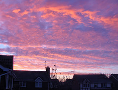morning delight [explored] (carol_malky) Tags: light clouds sunrise frost view room upstairs glorious colourful coldmorning explored