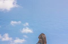 4/365 (Lauve) Tags: sky clouds ocean sea waves ripples selfie selfportrait self portrait blue 365 project