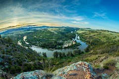 Shepheards lookout (joshmitterfellner) Tags: trees sunset sky cliff river spring australia wideangle canberra 12mm hdr samyang sheapardslookout