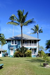Beach House (daniel_james) Tags: blue usa house holiday tree hawaii lawn palm kauai hanalei beachhouse 2015 canon1022mm beacharchitecture