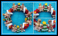 Christmas wreath (crafty1tutu (Ann)) Tags: christmas toy bright handmade decoration felt christmastree collection wreath ornament gingerbreadhouse gingerbreadmen anncameron madewithlove christmasiscoming photoborder ilovemypics qualitypixels gingerbreadladies gettycontributor crafty1tutu olympusomdem5