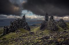 Through the Crags (Grant Morris) Tags: skye canon landscape scotland rocks isleofskye sigma greysky rockstack greyclouds oldmanofstorr storr 1735 grantmorris grantmorrisphotography
