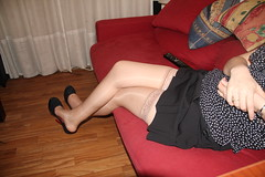 Feet, nylon, legs, high heels and see-through! (Heather.Flint) Tags: feet stockings shoes nylon