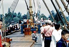 Riding the Columbia, July 1960 (Tom Simpson) Tags: vintage boat ship disneyland columbia disney 1960s sailingship 1960 riversofamerica vintagedisney