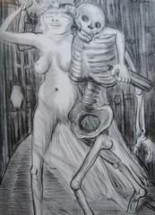 The Two Good Sisters, 1940 (STORMZORN) Tags: maiden madchen mortsqueletteskeletonfemmedame fillejeunewomannakedmementomorinuenude erosthanatosdansemacabrecadavercadavreznortcraneskull muertechica todtott tanzdellamorte