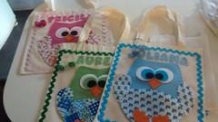 sacolas customizadas (feito a mao, feito a feltro) Tags: coruja feltro sacola