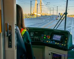 About to Go Across the Tilikum Crossing (AvgeekJoe) Tags: bridgeofthepeople d5300 dslr nikon nikond5300 oregon portland tilikumcrossing tilikumcrossingbridgeofthepeople willametteriver bridge cablestayedbridge transitbridge unitedstates us