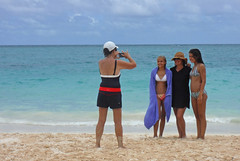 pose at Lanikai Beach (mikemartin1967) Tags: fuji lanikaibeach
