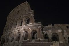 Edge of the Colosseum (noname_clark) Tags: italy rome vacation honeymoon night dark colosseum longexposure