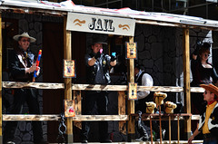 Jail Shooters (pokoroto) Tags: people jail shooters parade calgarystampede calgary カルガリー アルバータ州 alberta canada カナダ 7月 七月 文月 shichigatsu fumizuki bookmonth 2016 平成28年 summer july