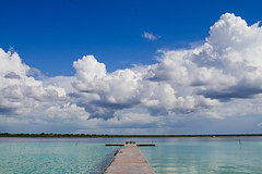 ... (...Mon) Tags: cancun quintana roo bacalar travel beach trip journey colors blue sunrise sunset boat pier clouds explore