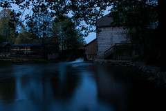 Water Circle (modestmoze) Tags: water river circle waterfall blue white reflection cold flowing running sky evening 2016 500px autumn october trees grass light car moving nature naturephotograph architecture shed mill old wooden rocks concrete shore planks lithuania dark shadows black brown green