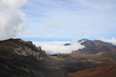 Cinder cones and Clouds (BattysGambit) Tags: 2016 usa hawaii hawaiian holiday maui fall clouds magnetic peak volcano dormant haleakal national park 10000 feet cinder cindercone martian landscape mountain canon dslr 7d