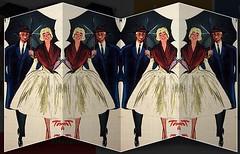 2016-10-24 1959 fashion (april-mo) Tags: vintage vintagemagazine fashion fashionstory mode folder collage experimentaltechnique 1959 umbrella paris couple