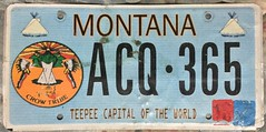 MONTANA 2010 ---CROW TRIBE, NATIVE PLATE, OPTIONAL ISSUE (woody1778a) Tags: usa american licenseplate numberplate registrationplate mycollection myhobby state unitedstates montana 2010 native indian aboriginal