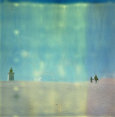 people_049 (lb.polaroids) Tags: timezero sx70 tz instant miniature people sand dunes lighthouse polaroid roidweek