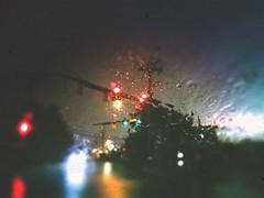 No turn on red (BLACK EYED SUZY) Tags: rain night drive traffic citylights redlight tadaa afterlight storm