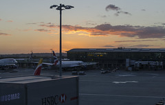 Sunset at Heathrow (rschnaible) Tags: sunset heathrow airport color colorful travel traveling uk united kingdom london