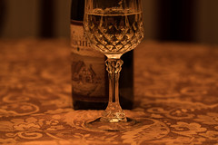 Happy Thanksgiving! (Irina1010) Tags: greeting glass wine wineglass whitewine bottle cheers table dinner festive canon thanksgiving