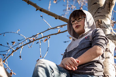Up A Tree 2 (Chris Lemmen (PIL Photo)) Tags: 2016 50d brooding gritty grungy hoodie jacob jrhighshoot