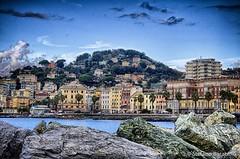La Vetta (stefanobarabino) Tags: rocks italy lungomare canon1200d hdr houses color cloud canon pegli