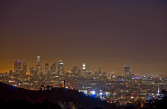 Seraph City (El Justy) Tags: losangeles cityofangels la westcoast california city skyline skyscrapers night mulhollanddrive lights light longexposure outdoor southerncalifornia socal smog haze pollution