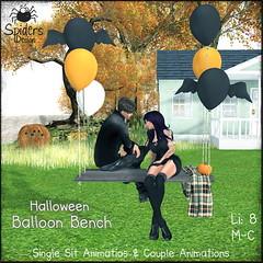 Halloween Balloon Bench (Spinnetje Jewell) Tags: halloween pumpkin secondlife spidersdesign balloon bench