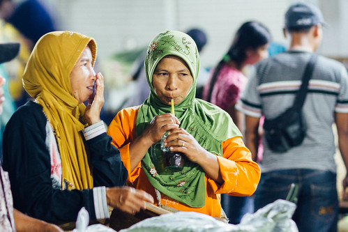 Women in Hijabs, Buleleng Night Market, Indonesia