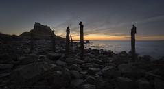 Castle (MarkWaidson) Tags: holyisland lindisfarne castle beach sea northumberland rocks sunrise sky clouds