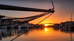 Haugesund, Norway (Vest der ute) Tags: norway rogaland earlymorning houses sunrise seaside sea water boats sky serene fav25 xt2 fav200
