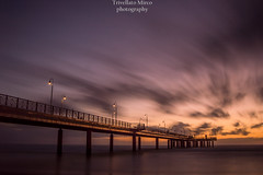 Marina di Pietrasanta (trivellatomirco) Tags: mare sea versilia sky tramonto clounds marinadipietrasanta photo nikon