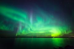 Northern lights at lake (Juh-ku) Tags: northernlights auroraborealis night sky beautiful green