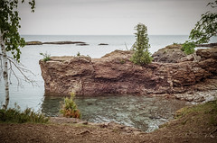 A Little Cove (J&E Adventures) Tags: landscape uppermichigan marquette cliffs exploring up michigancoast 35mm film michigan trees canona1 upperpeninsula puremichigan ishootfilm filmphotography lakesuperior nature canon rocks