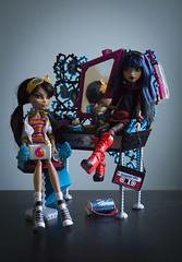 Smarty and Cutie (dancingmorgana) Tags: cleo de nile monster high doll rerooted hybrid monsterhogh reroot body howleen playset tabv vanity