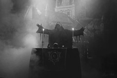 Mayhem (gin.simmonns) Tags: mayhem blackmetal black metal metalhead metalheads norwey music musician extreme norwegian nordic true thetruemayhem mexico concert event show lights dark darkness instrument candless corpsepaint monk satanic blackandwhite skull table singer vocal attila hands