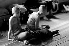 Monks, Myanmar (feijeriemersma) Tags: myanmar asia yangon rangoon monk monks monastery life young boys religion burma birma floor buddha buddhistic buddhist bw blackandwhite asian