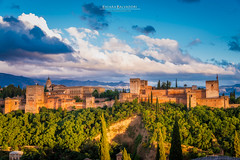 Alhambra (Chiara Salvadori) Tags: sierranevada travelphotography alcazar alhambra andalusia building castle clouds colors culture europe granada landscape mountains nature outdoors premiun scenery spain spring sun sundown sunset travel traveling village