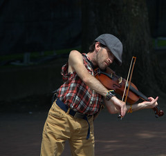 A Violin Serenade (swong95765) Tags: man violin music perform tips play bow melody