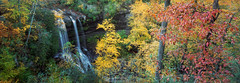 Autumn Bliss (Todd Hurley Photography) Tags: dryfalls highlands northcarolina nc autumn waterfall fall color leaves panorama panoramic 6x17 film ektar100 mountains western