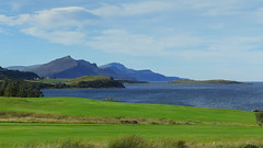 The amazing colors of the Isle of Skye (RIch-ART In PIXELS) Tags: isleofskye scotland lochslagachan leicadlux6 dlux6 leica loch lough seaside seascape shore sconcer schotland unitedkingdom green mountains mountainridge water grassland coast mountain