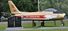 RCAF Canadair Sabre Mark V Cold War fighter-bomber 1948-58 - National Air Force Museum of Canada, Trenton, Ontario (edk7) Tags: nikond300 edk7 2013 canada ontario cityofquintewest trenton canadianforcesbasetrenton cfbtrenton nationalairforcemuseumofcanada nafmc royalcanadianairforce rcaf cl13 canadairsabremarkv sn23257 194858 jet fighterbomber aviation plane airplane military coldwar avrocanadaorenda14turbojet7275lbf aircraft