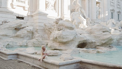 Fontana di Trevi (laura zalenga) Tags: rome fountain white girl woman water city sun morning outdoor laurazalenga bright pale masterofphotography tv show stone rock art history