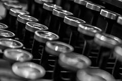 Typewriter (Jovan Jimenez) Tags: type writer canon eosm3 eos m3 22mm stm efm bokeh typewriter black white bw monochromic mono monochrome mirrorless vintage retro f2 gray silver