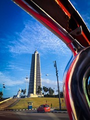 Revolution Square. Havana (H.L.Tam) Tags: cuban photodocumentary street streetphotography iphoneography harbana sketchbook taxi iphone6s cubasketchbook documentary havana cuba cubantaxi iphone fidelcastro josemarti revolutionsquare