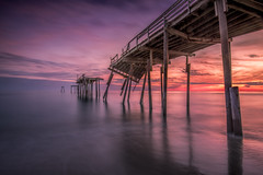 The Old Pier and the Sea (JMK/Photography) Tags: friscopier pier outerbanks northcarolina obx capehatteraspier capehatteras ocean longexposure landscapephotography beautiful hurricane water architecture leefilters sunset nikon nikond810 1635mmf4 damagedpier