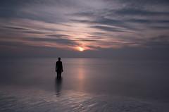 Standing Man (Alan-Taylor) Tags: antonygormley antony gormley statue beach sunset crosby lancashire